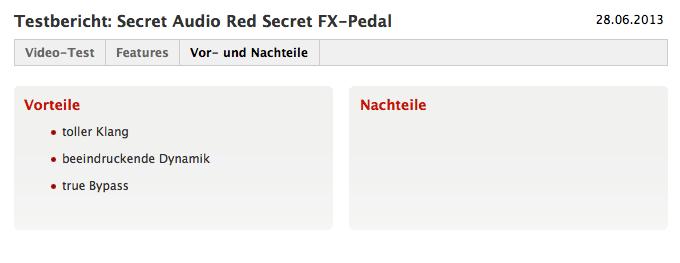 Red Secret –Vor- und Nachteile